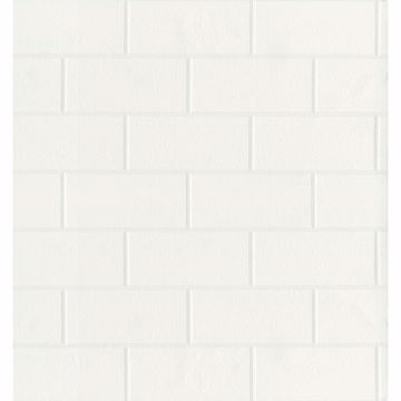 Picture of Bettina White Paintable Subway Tile Wallpaper