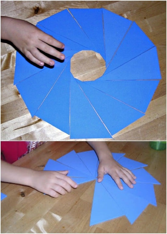 DIY Montessori Triangle Puzzle