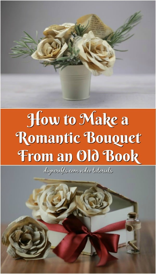 How to Make a Romantic Bouquet From an Old Book