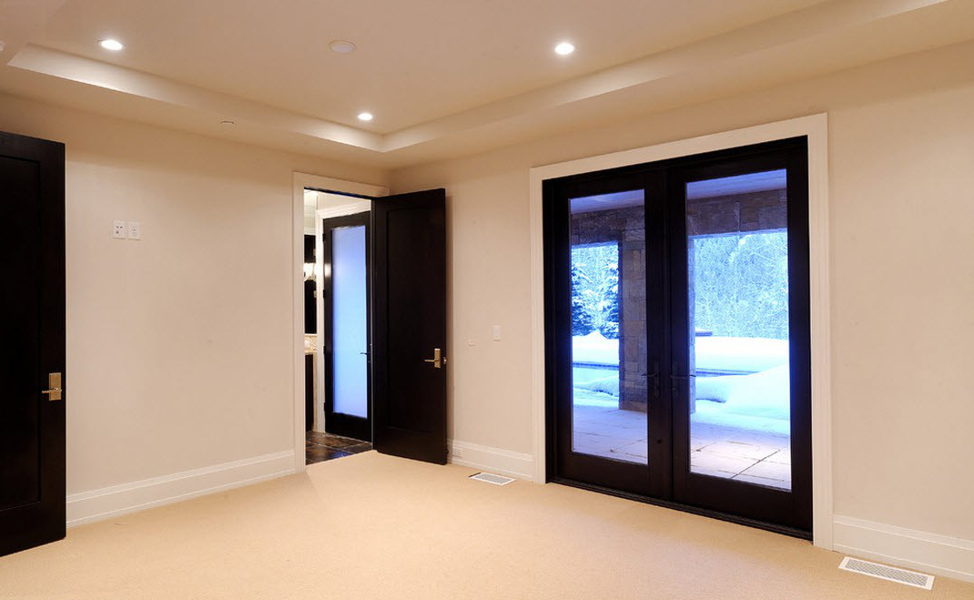 Black entrance and interior doors for your home