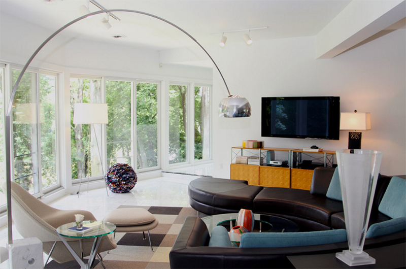 midcentury living rooms