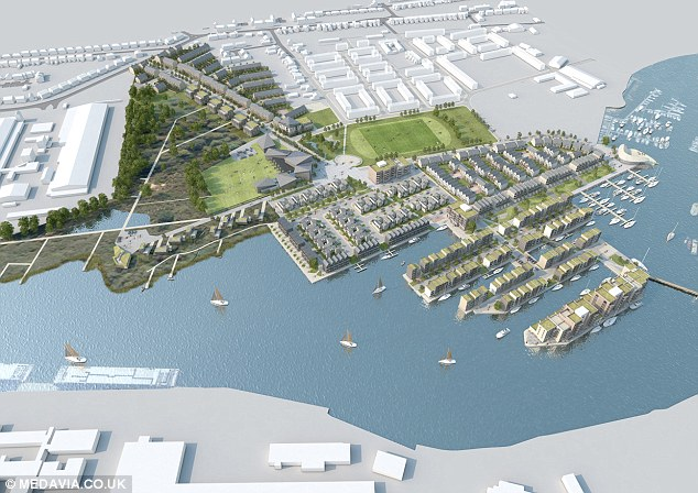 Assael Architecture, which has designed the complex, has produced images of what the marina will look like