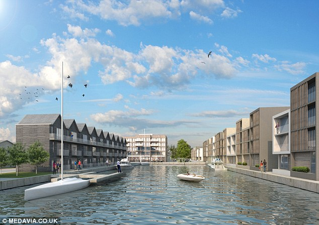 The homes are to be built on stilts on the flood plain and are inspired by a Dutch design to cope with flooding