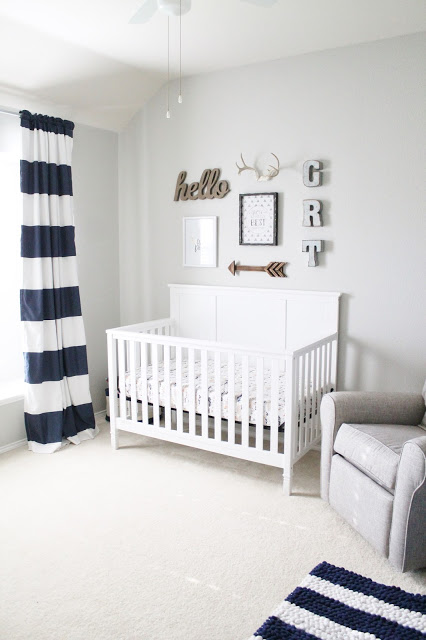 clean baby boy nursery ideas