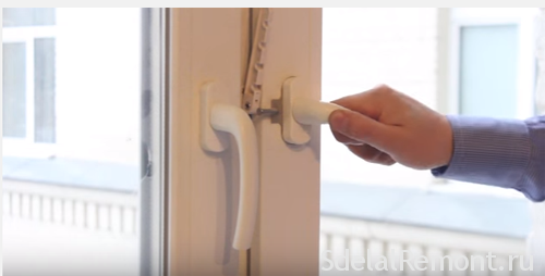 How to repair a broken handle on the plastic window