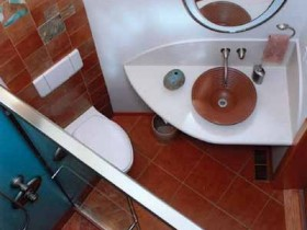 The original design of the bathroom 2 quarter. m