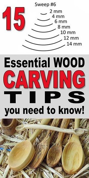 Wood Carving tips and techniques. Learn basic and beginner tips and tricks on how to carve wood using hand and power tools, gouges, knives, and whittling.