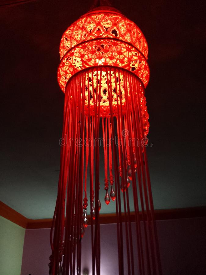 A Beautiful and Colourful Chandelier. A beautiful and colourful picture of stock image