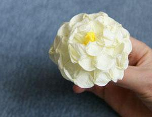 white flower out of paper