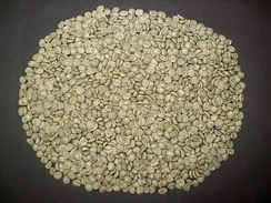 Coffee beans before roasting