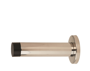 Eurospec Wall Mounted Door Stop (76mm OR 102mm), Polished Or Satin Stainless Steel - DSW1016/1017