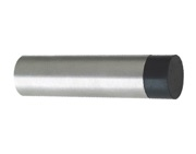 Zoo Hardware ZAS Cylinder Door Stop Without Rose (75mm Length - 19mm Diameter), Satin Stainless Steel - ZAS08BSS
