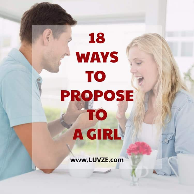 how to propose to a girl