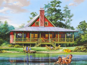 Waterfront Home Plan, 063H-0215