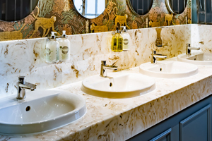 Marble vanity top The Wavendon Arms